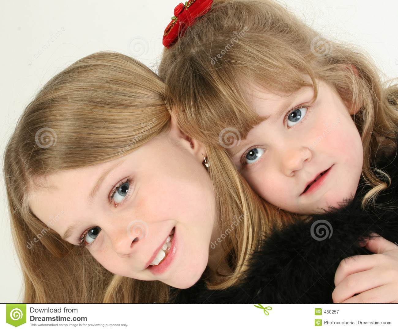 Download Beautiful Sisters stock image. Image of close, person, smiling - 458257