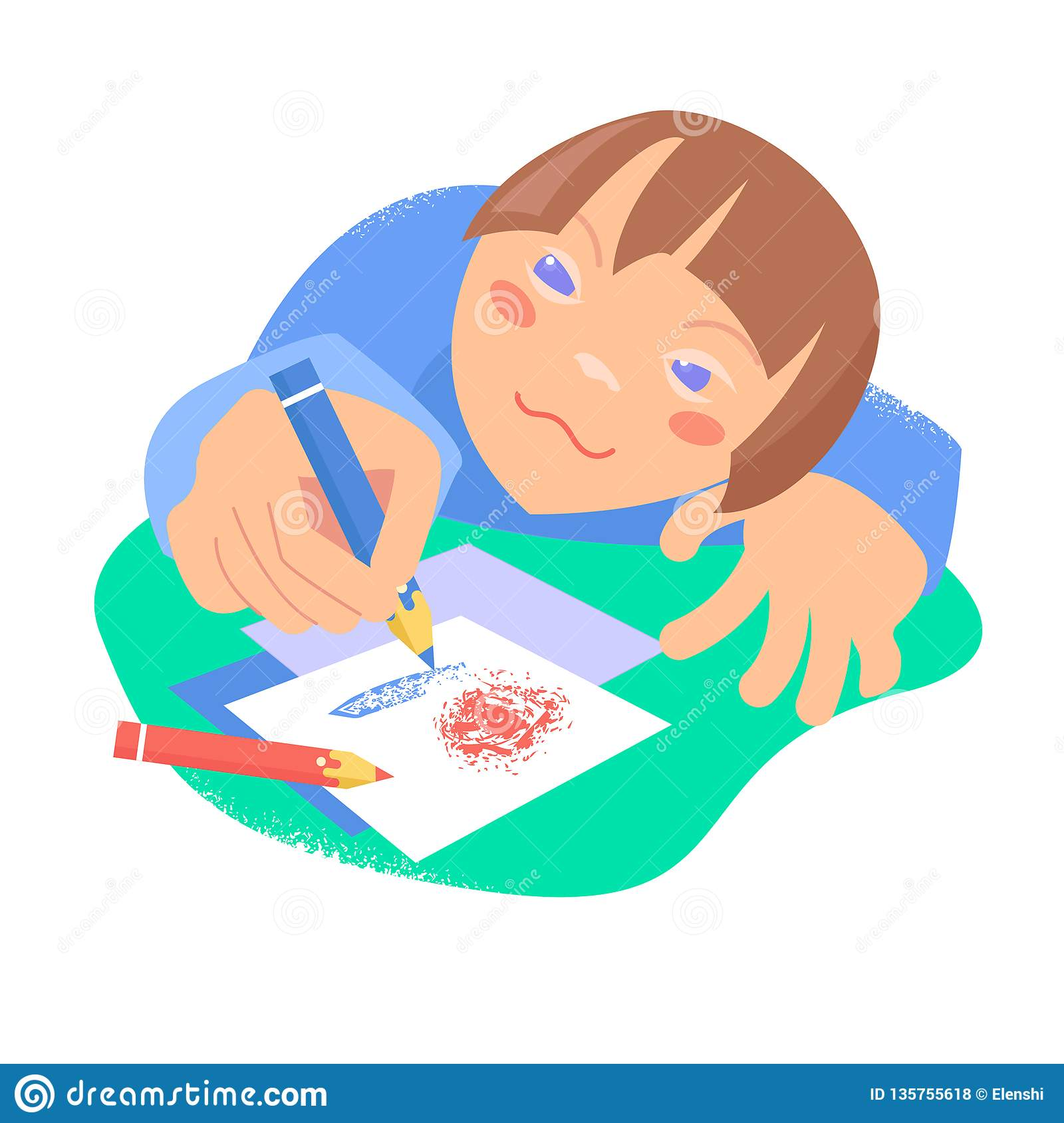 Beautiful sketch black card. Children drawing. Vector. Down syndrome concept
