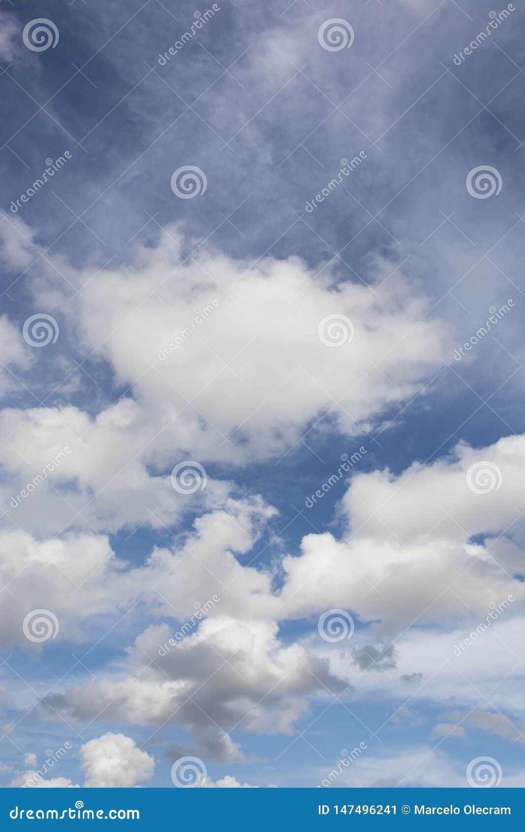 A beautiful sky and clouds scene.