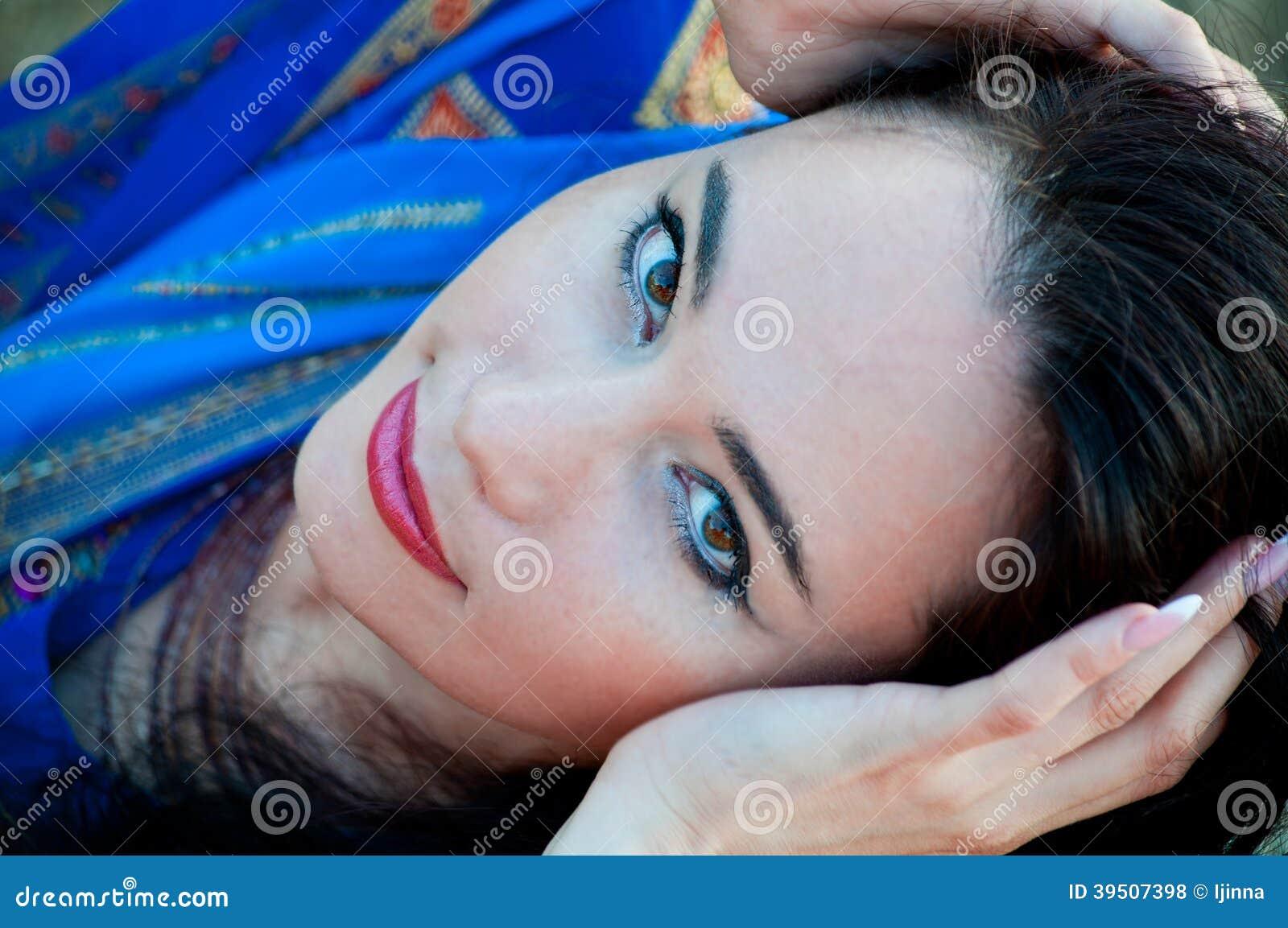 Beautiful slim lady, professional bellydancer