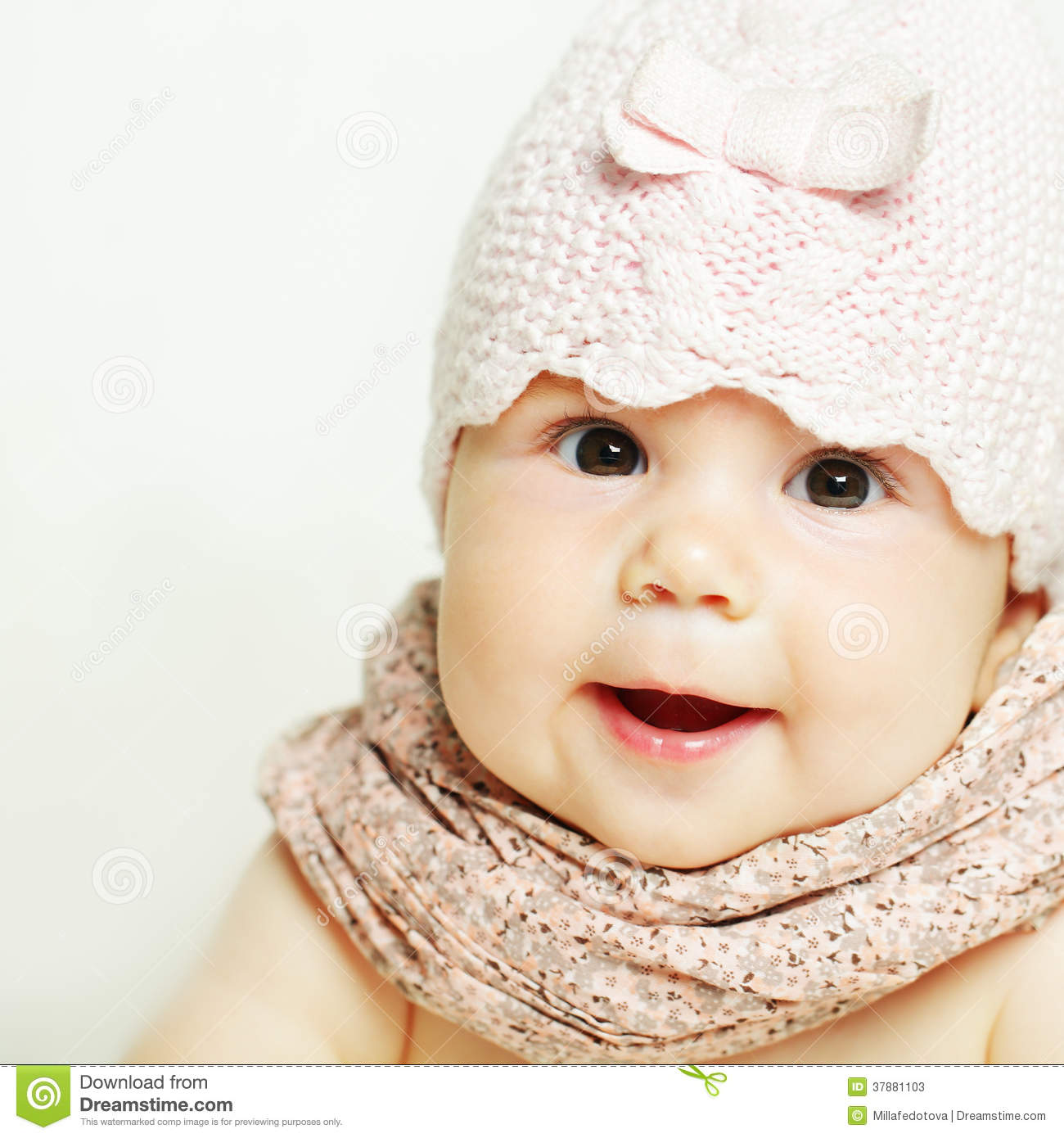 beautiful small baby girl stock image. image of card - 37881103