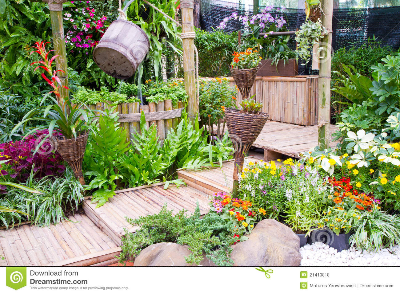 Beautiful Small Garden Royalty Free Stock Photos Image 21410818