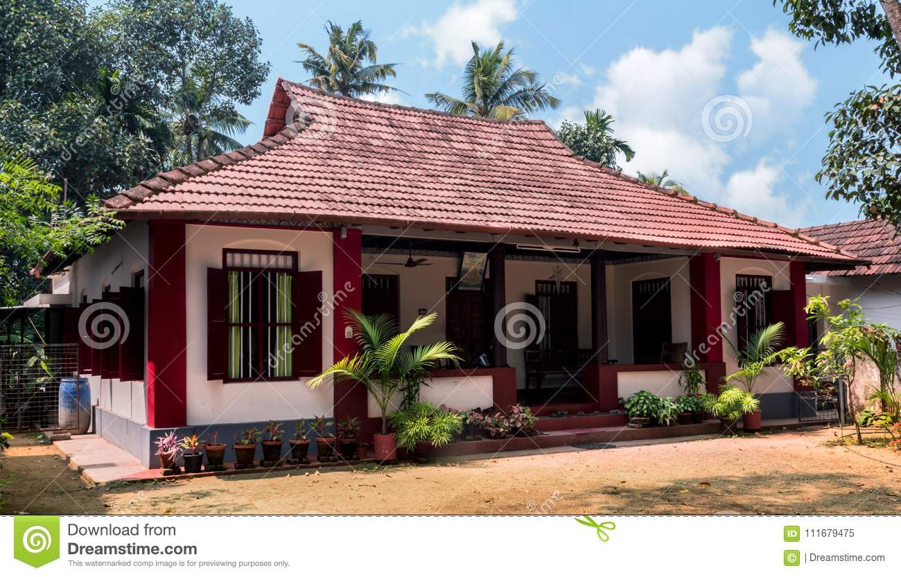 Download Beautiful Small House In Kerala With Clear Sky Background Stock  Image   Image Of Kerala