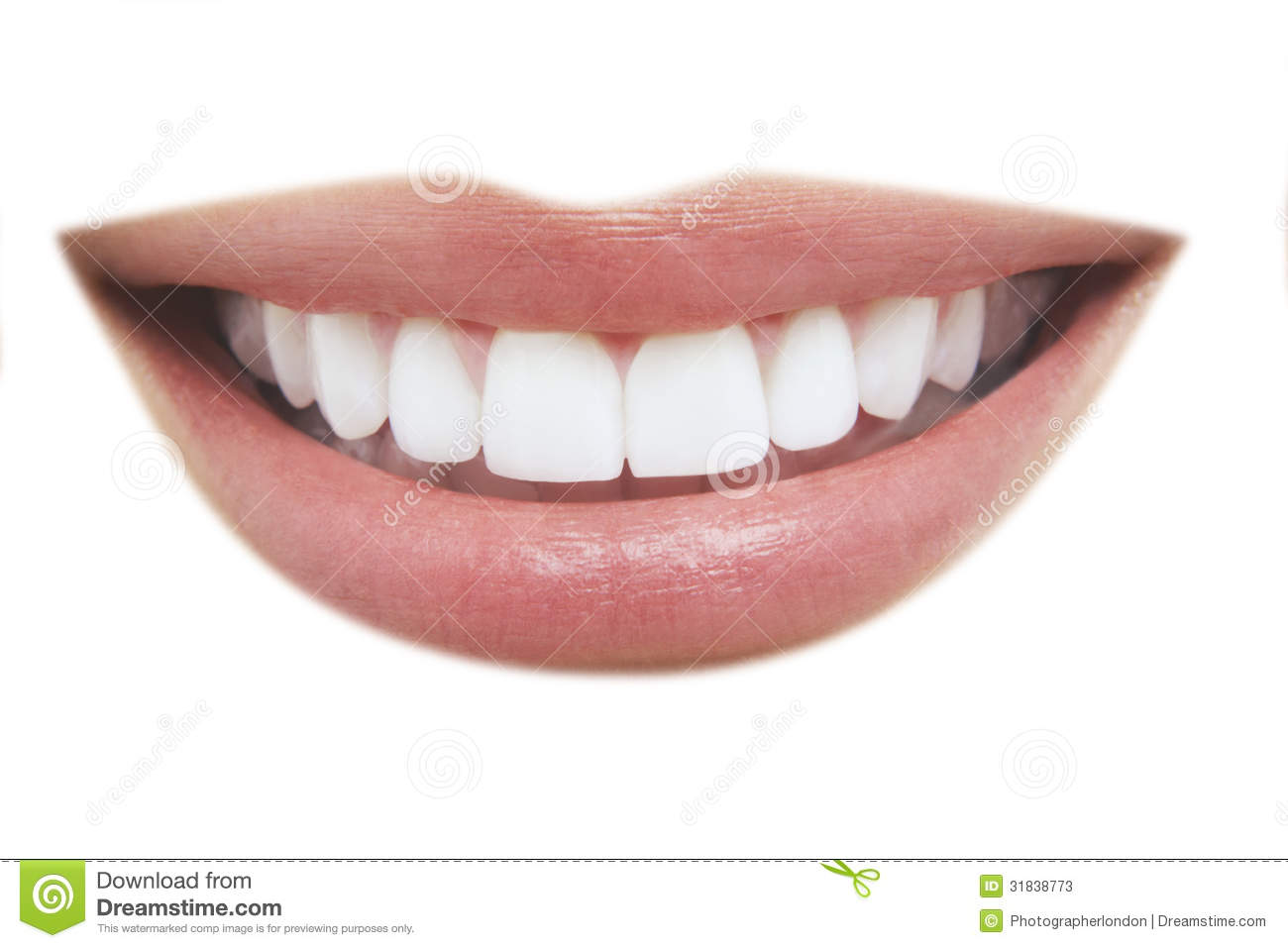 Beautiful Smile With Healthy Teeth Stock Photos Image