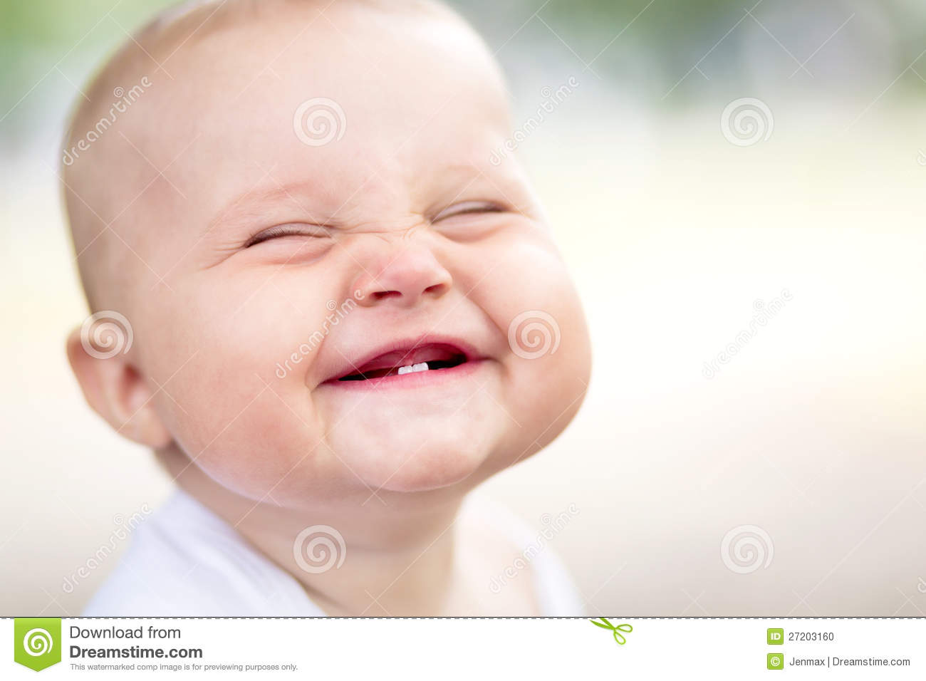 Beautiful Smiling Cute Baby Stock Photo - Image of emotion ...