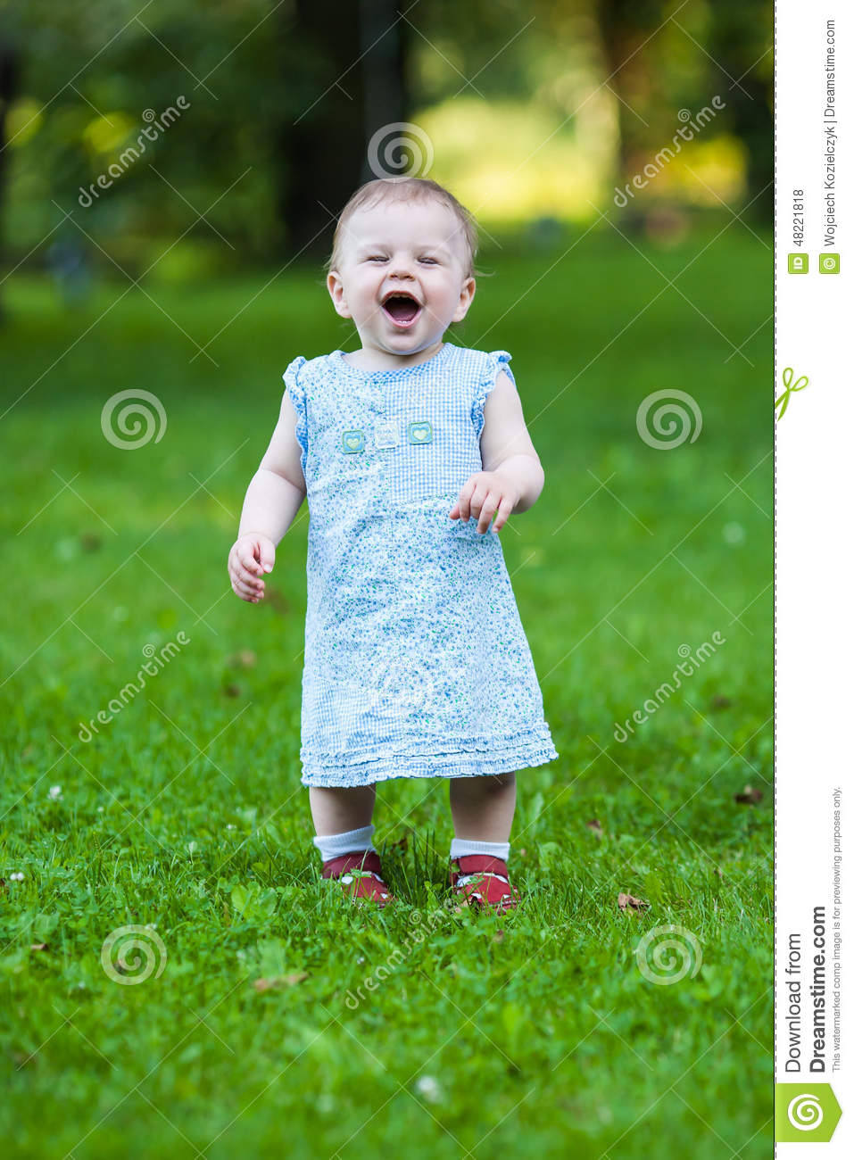 Beautiful Laughing Cute Baby Girl Stock Photo - Image ...