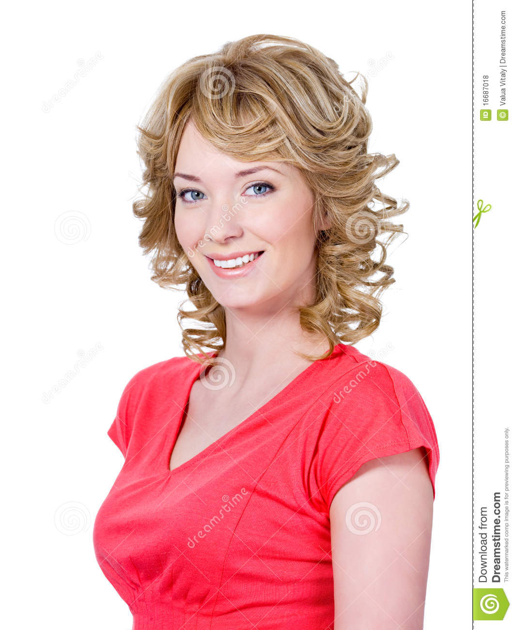 Beautiful Smiling Woman Stock Photo Image Of Space People 16687018