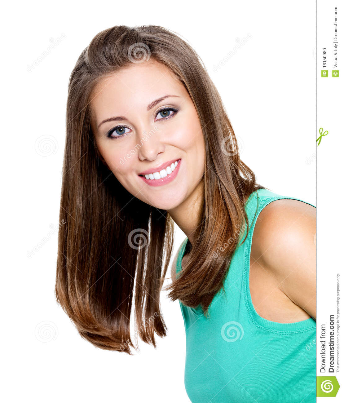 Beautiful smiling young woman — Stock Photo © valuavitaly