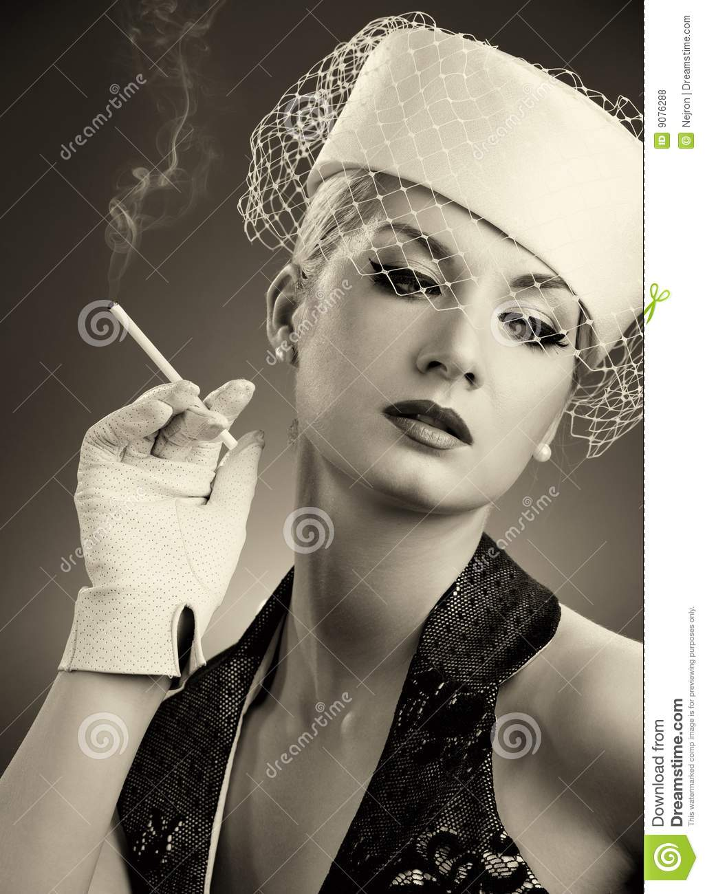 Beautiful Smoking Woman Stock Photo. Image Of Make