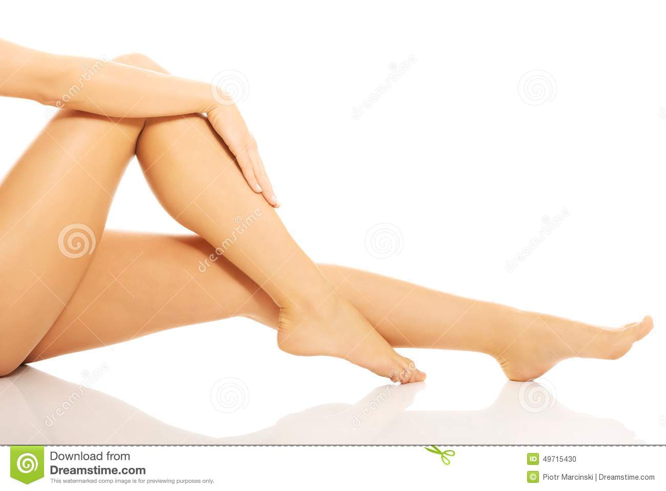 Beautiful Smooth Shaved Legs And Feet Stock Photo Image Of