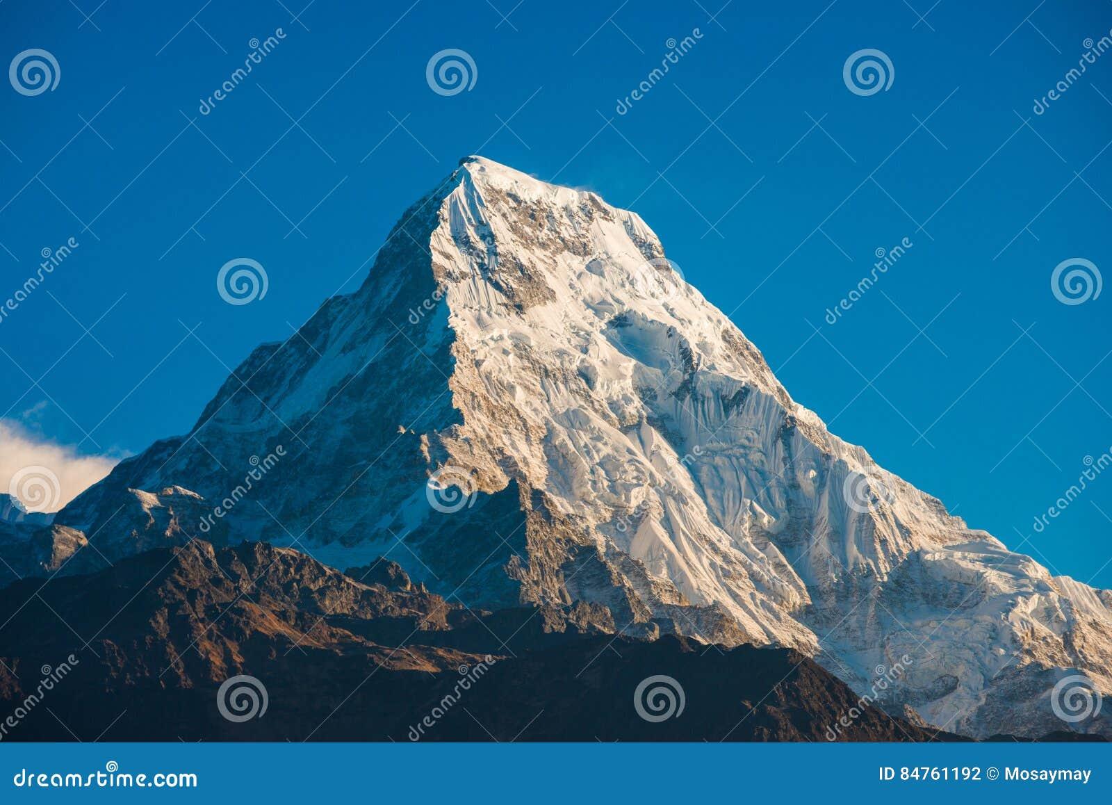 Beautiful snow mountain of Annapurna Himalayan Range