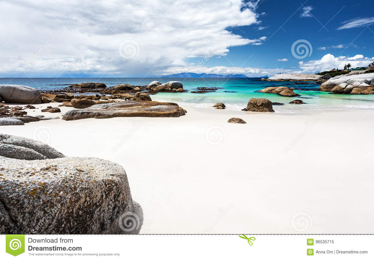 Beautiful south african beach landscape stock image for Landscaping rocks cape town