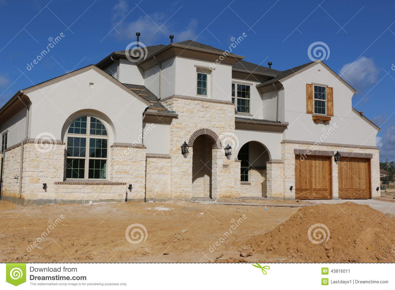 Beautiful Southern Homes Stock Photo Image 43816011