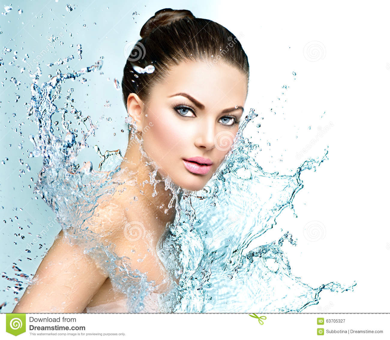 Beautiful Spa Woman With Splashes Of Water Stock Photo - Image ...