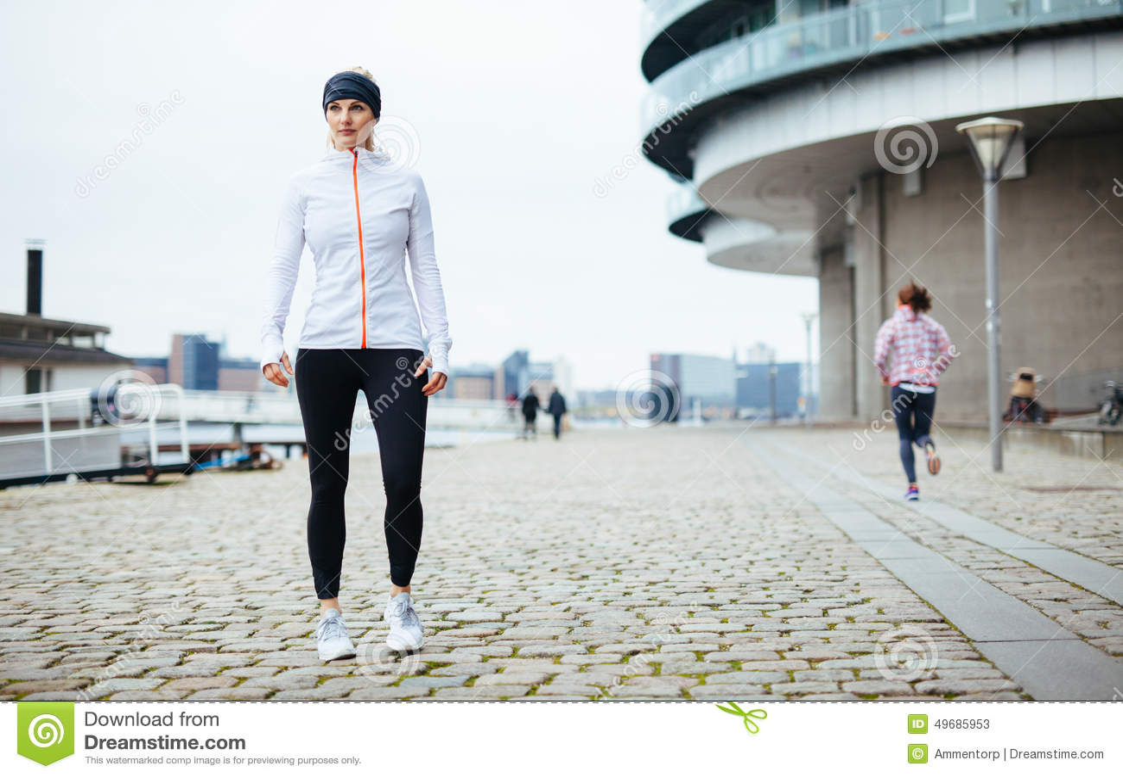Beautiful sporty woman portrait