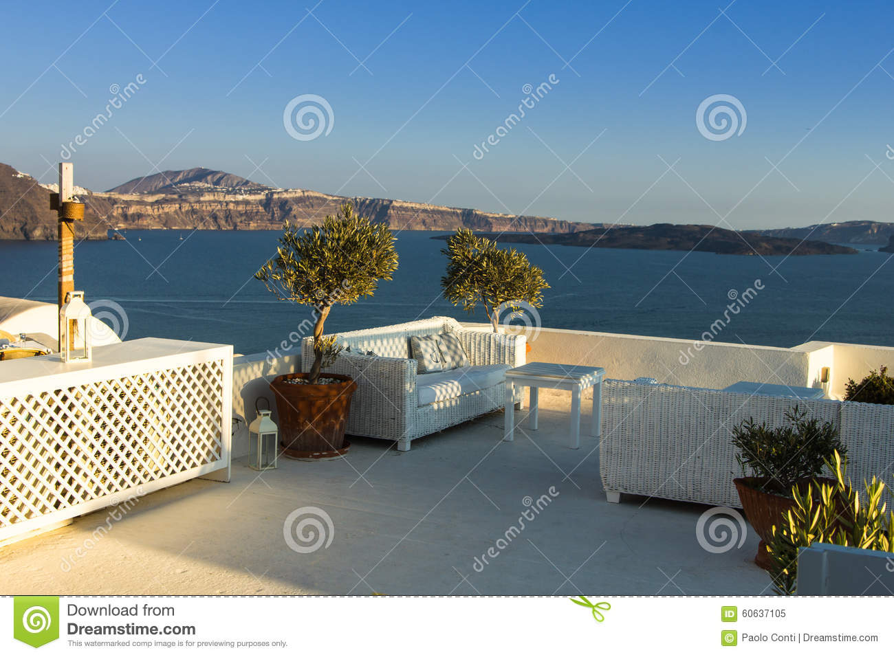 The beautiful spot santorini greece stock photo for 4758 setting sun terrace