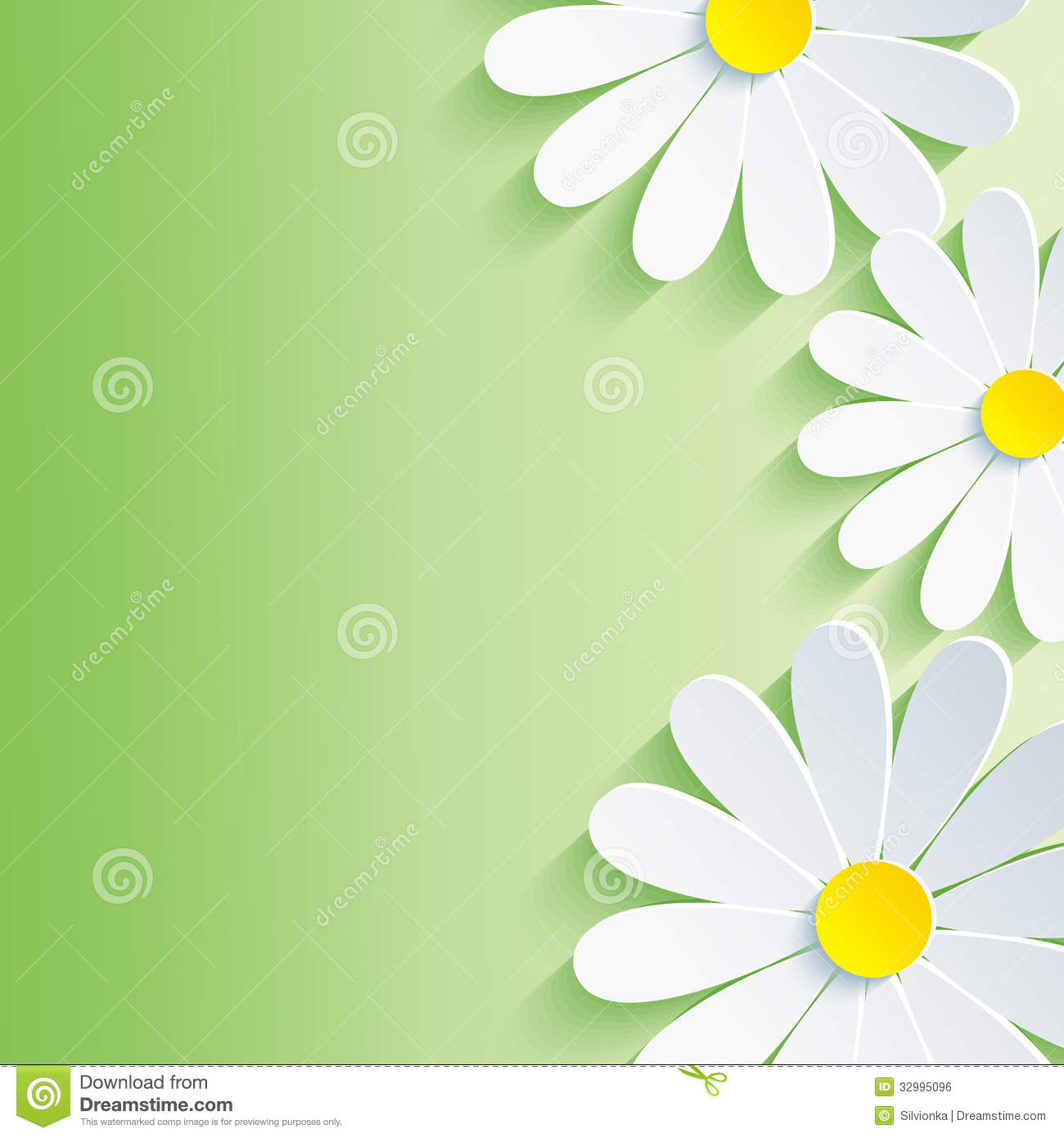 Beautiful spring abstract background, 3d flower ch