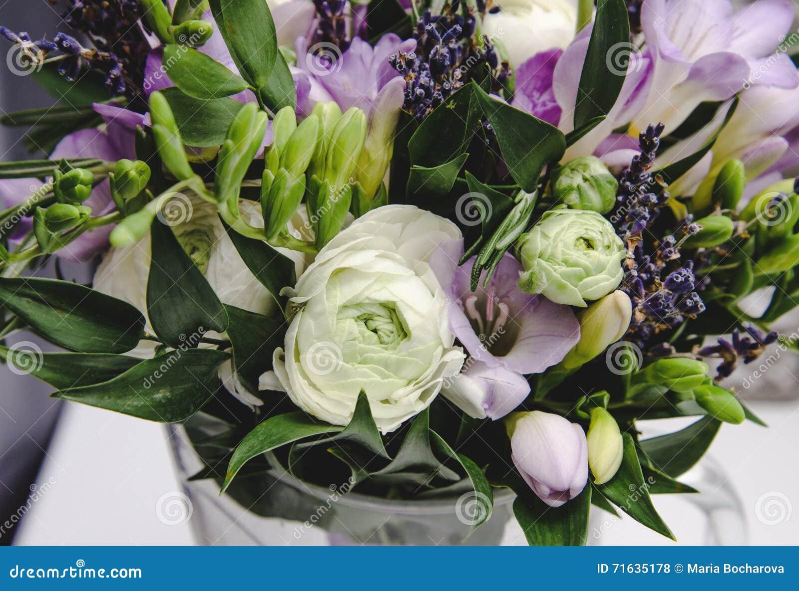 Beautiful Spring Bouquet Of Wedding Flowers Buttercup Ranunculus