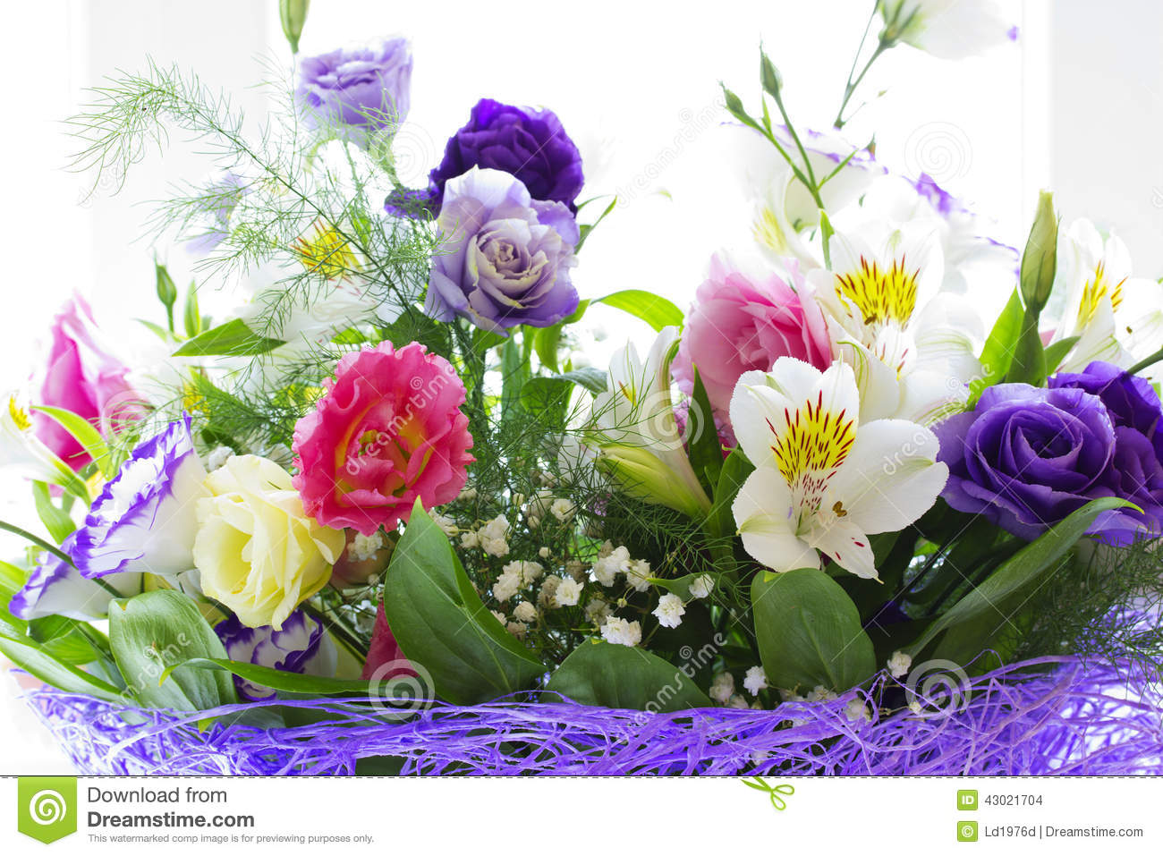 Beautiful Spring Flowers Stock Photo Image Of Bouquet 43021704