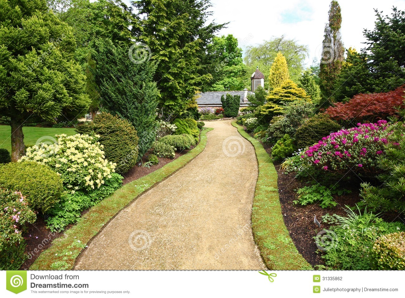 Beautiful spring garden stock photo image of lovely for Spring garden designs