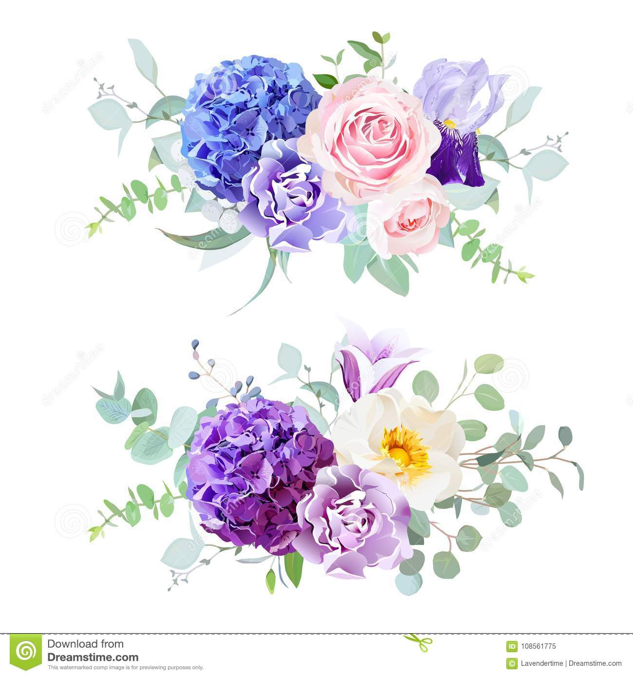 Beautiful Spring Wedding Flowers Stock Vector Illustration Of