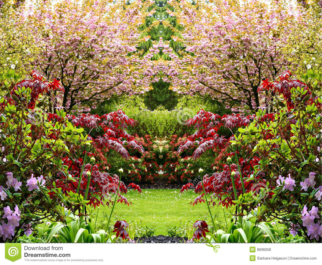 Beautiful springtime garden stock photo image 8696058 for Bastide au jardin secret