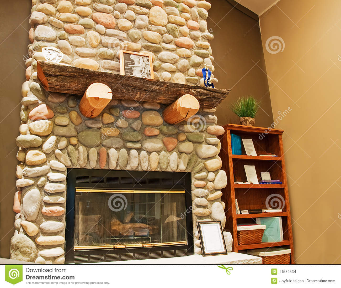 Beautiful Stone Fireplace