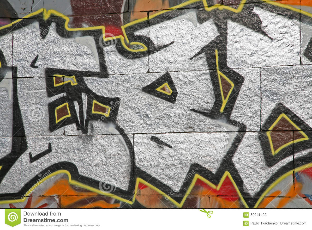 Beautiful Street Art Graffiti Stock Image Image Of