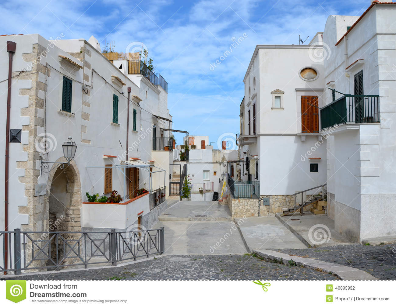 A beautiful street in Vieste