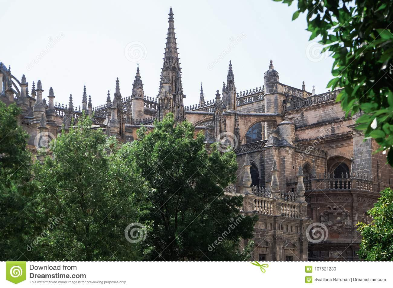 Beautiful streets and attractions of the wonderful city of Seville