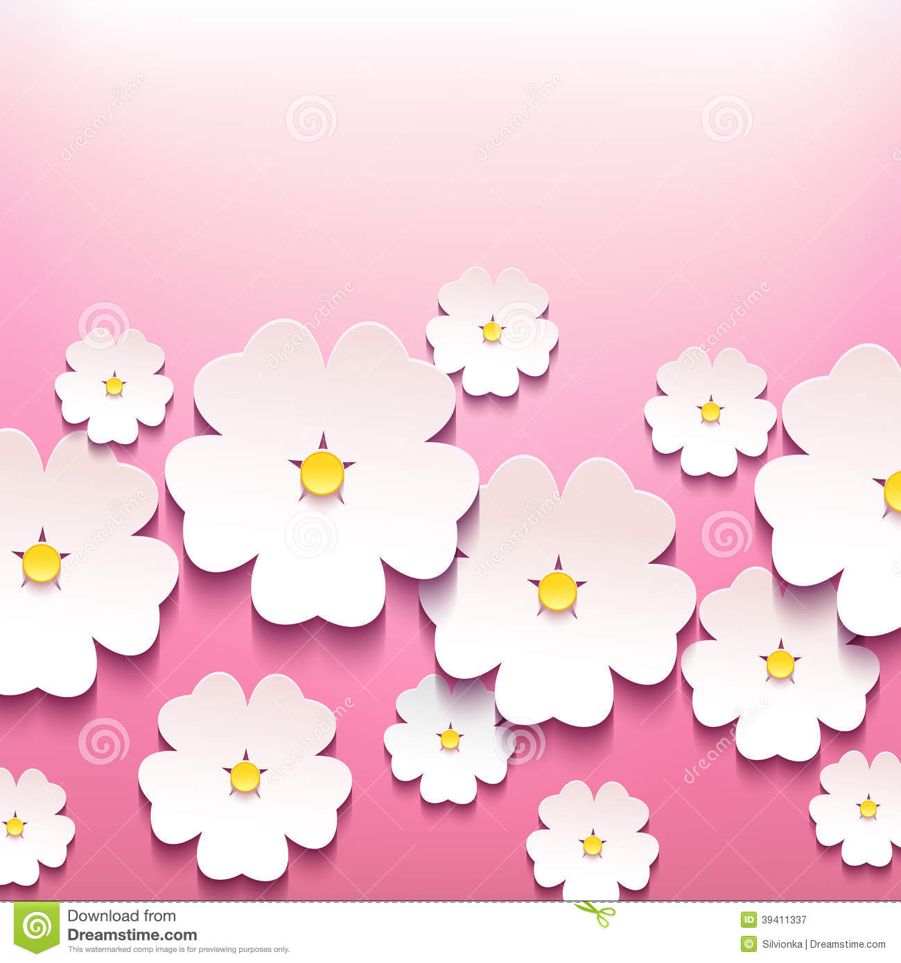 Beautiful Stylish Floral Background With 3d Flower Stock ...
