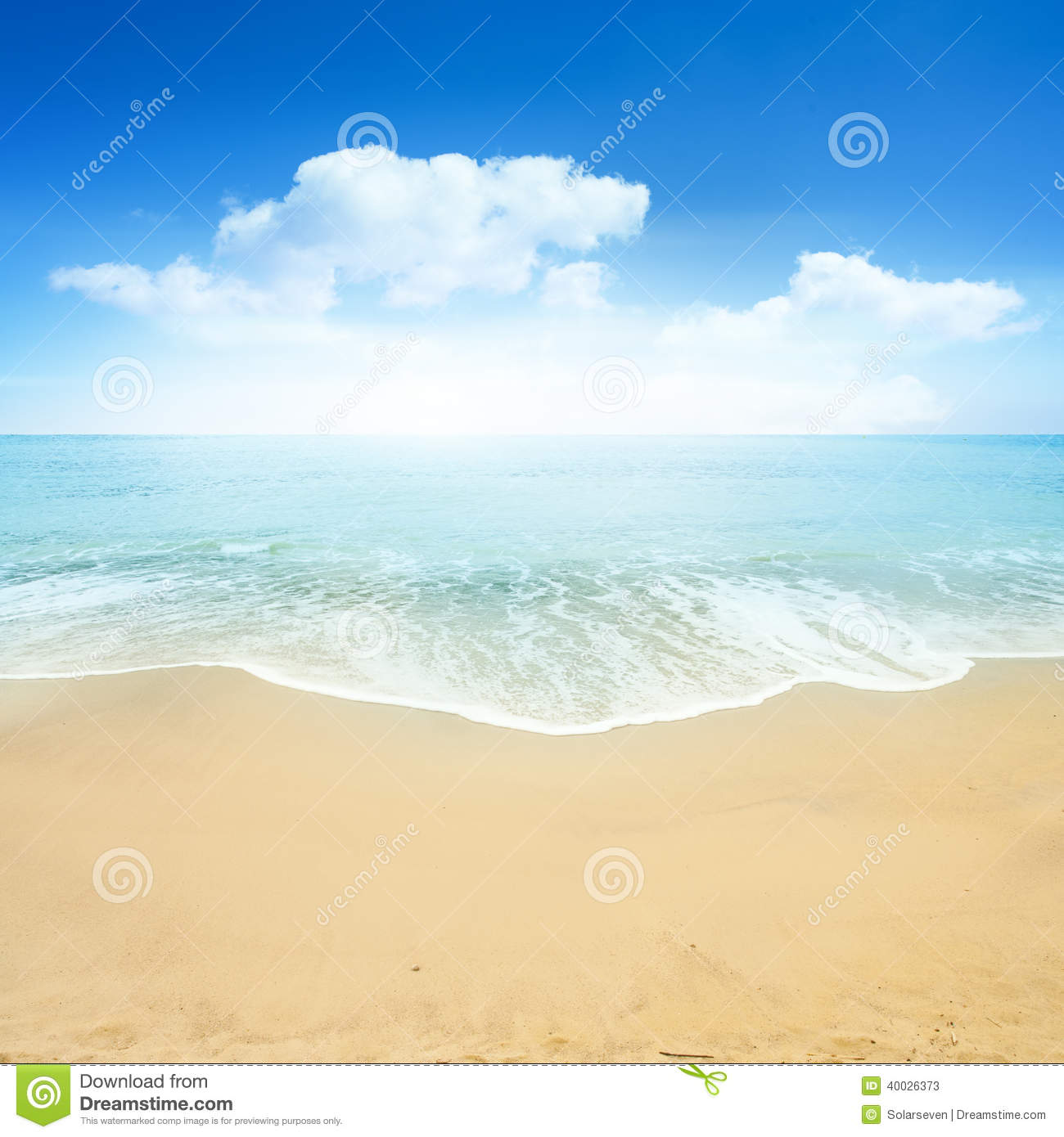 Beautiful Summer Beach Stock Image. Image Of Travel, Warm