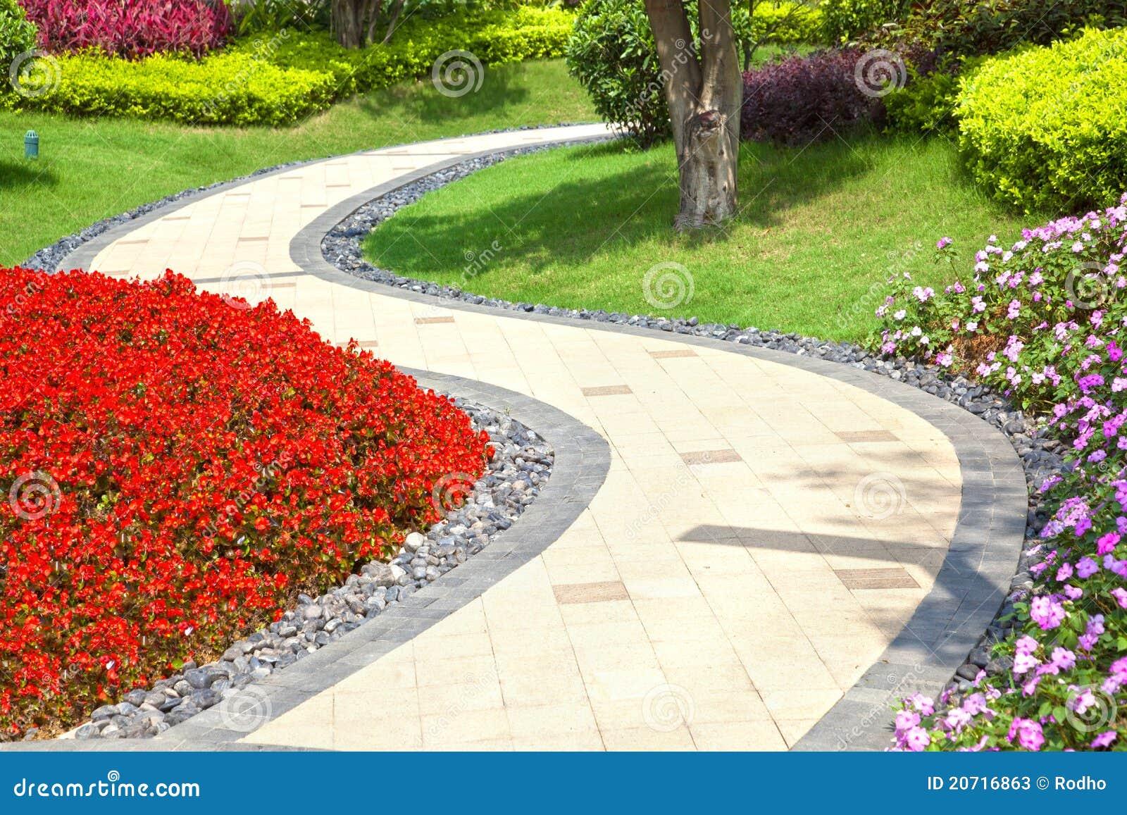 Garden Walkway Royalty Free Stock Photography - Image: 19304467