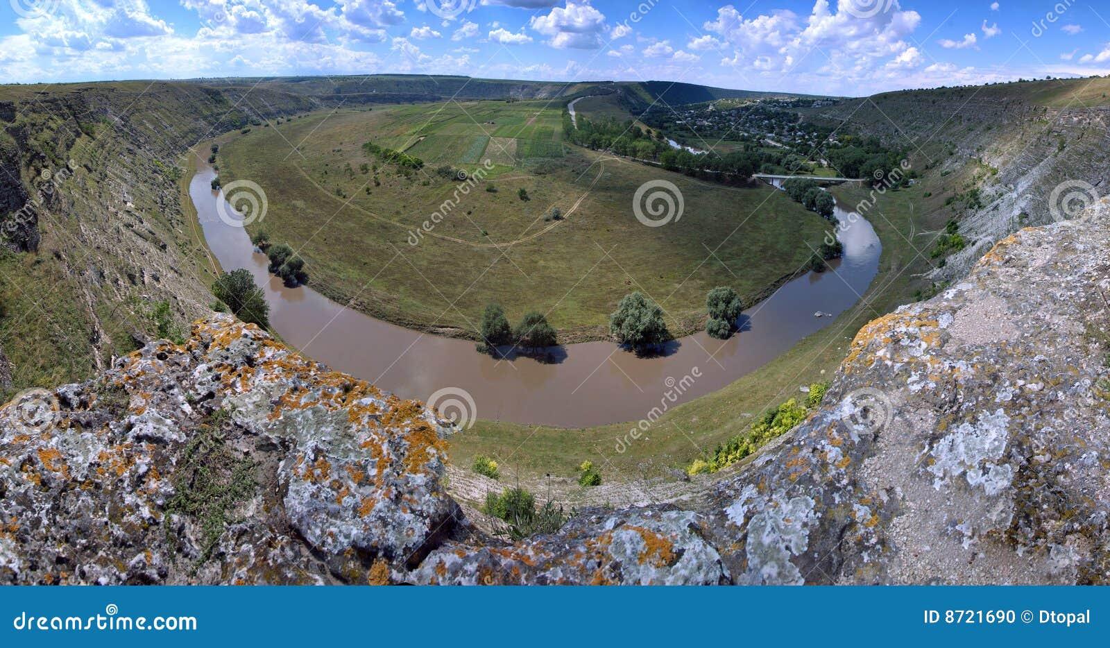 Beautiful summer panoram of Moldova