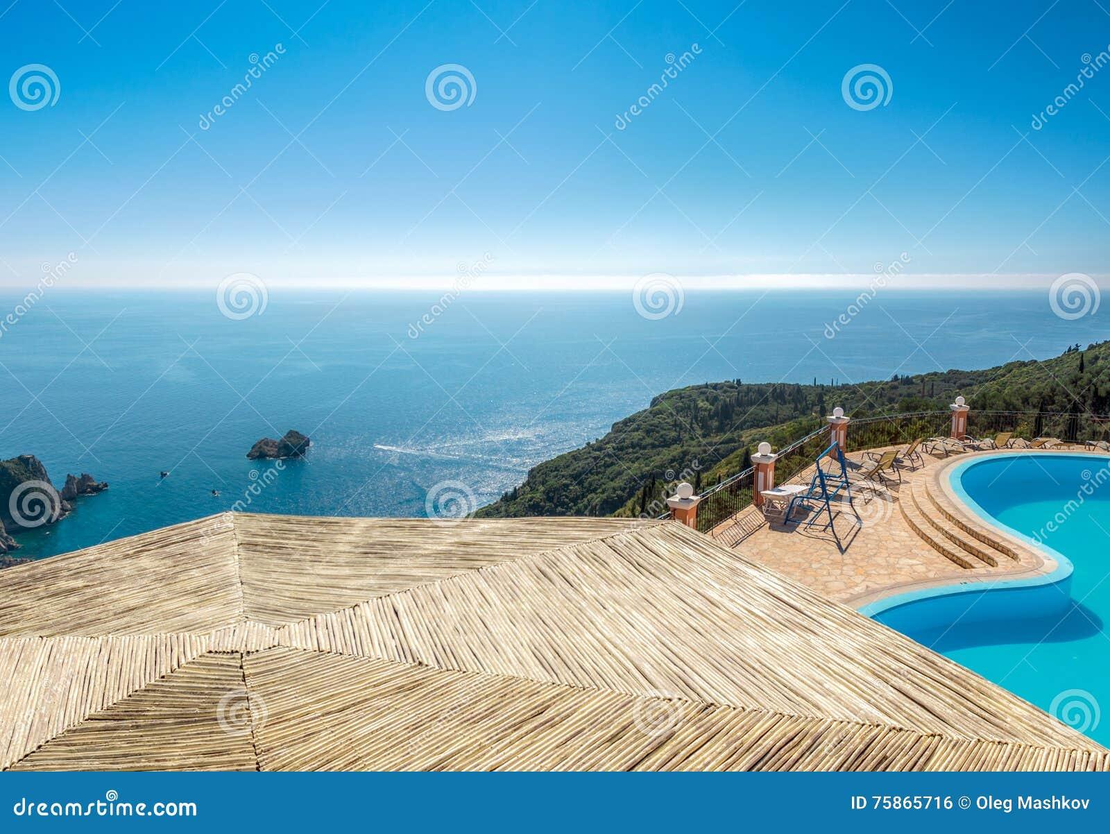 Beautiful summer resort landscape