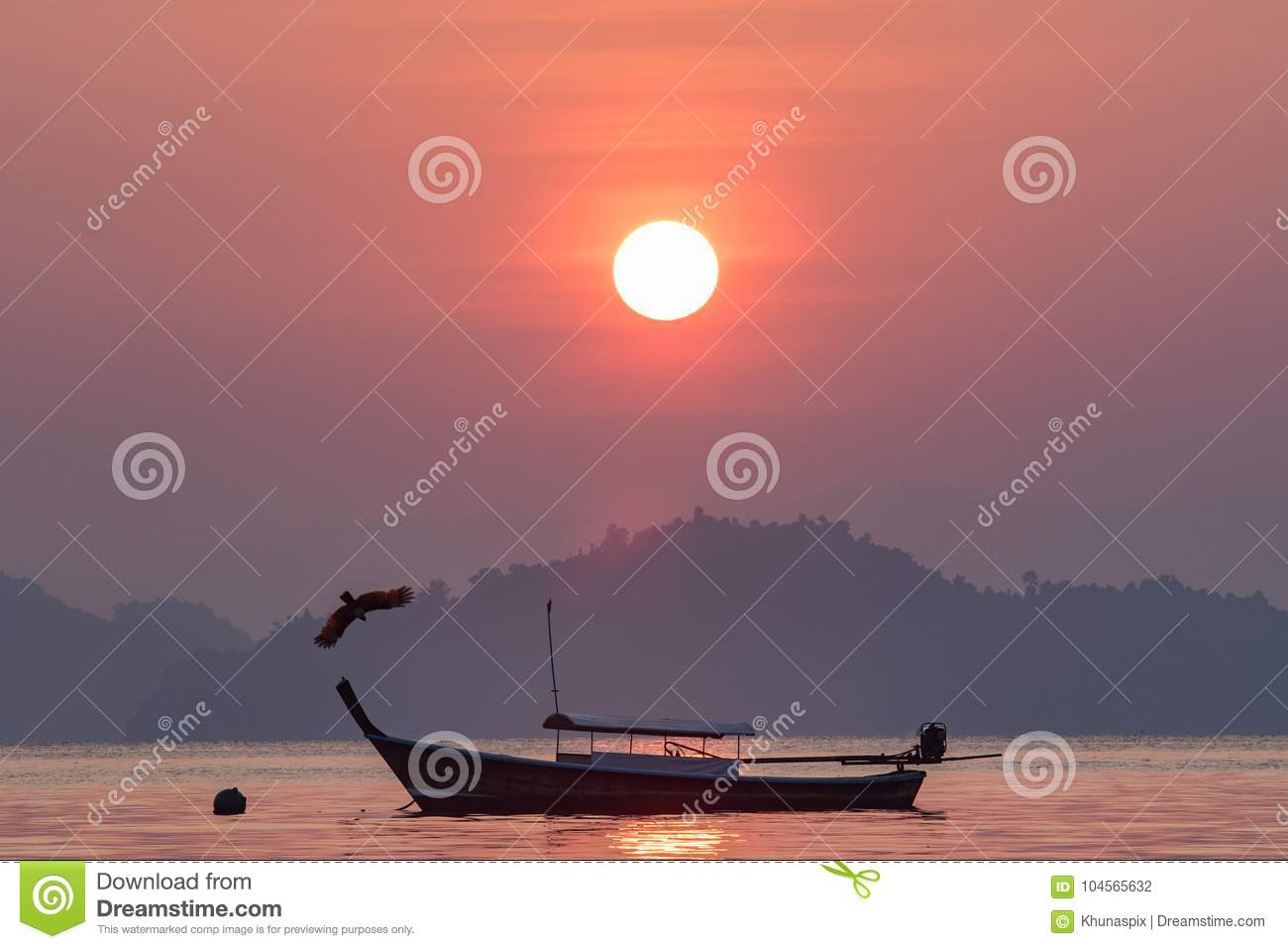 Beautiful Sun Rising Sky At Koh Payam Island Ranong Southern Of
