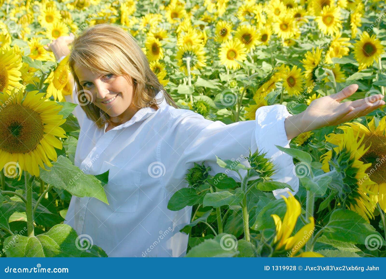 Beautiful Sunflower Woman