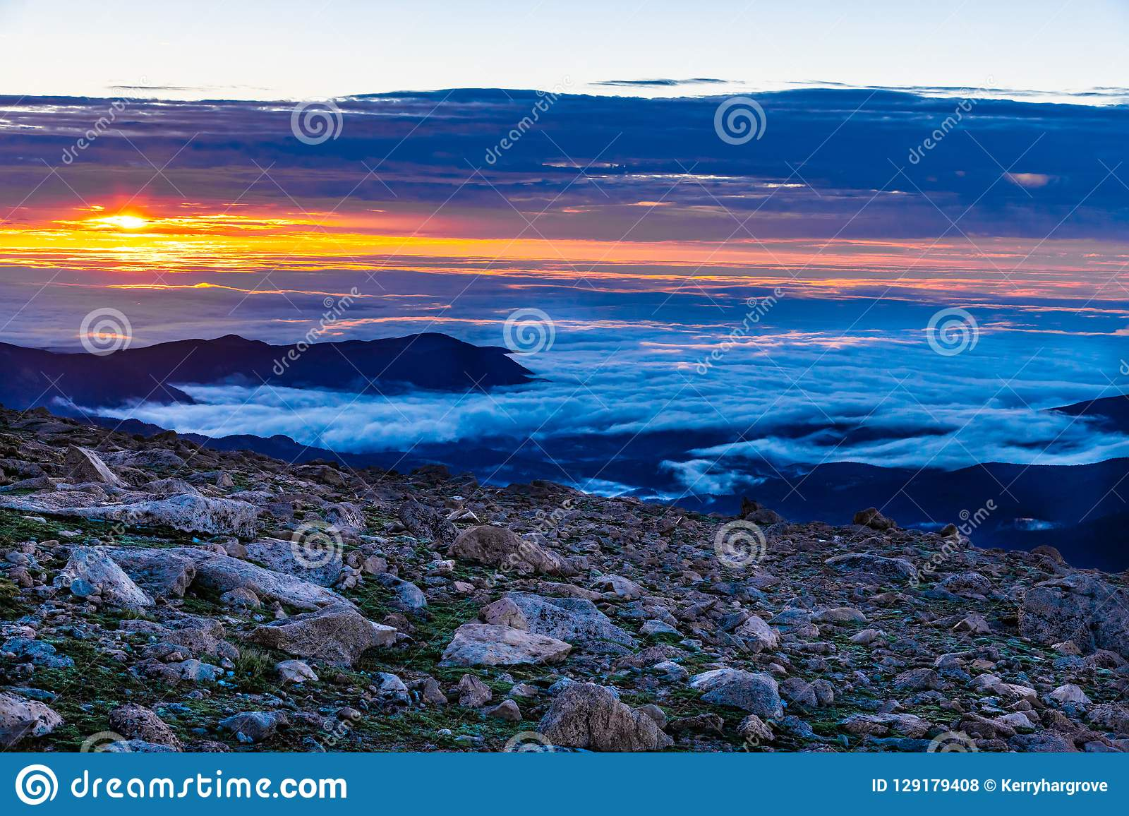 Sunrise on Top of the Clouds