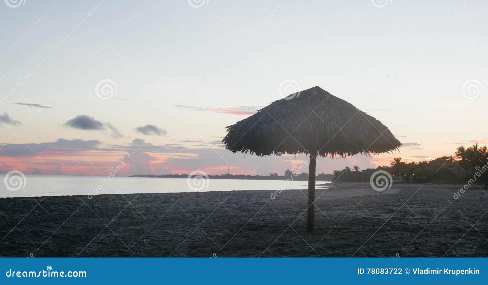 Beautiful Sunrise Beach Cuba Timelapse Stock Footage