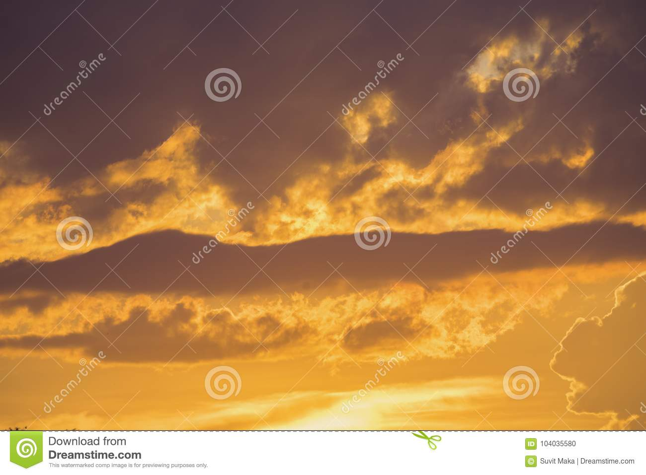 Download Beautiful Sunset In The Mountain Landscapesreflection Of Sky And Mountains Stock Photo