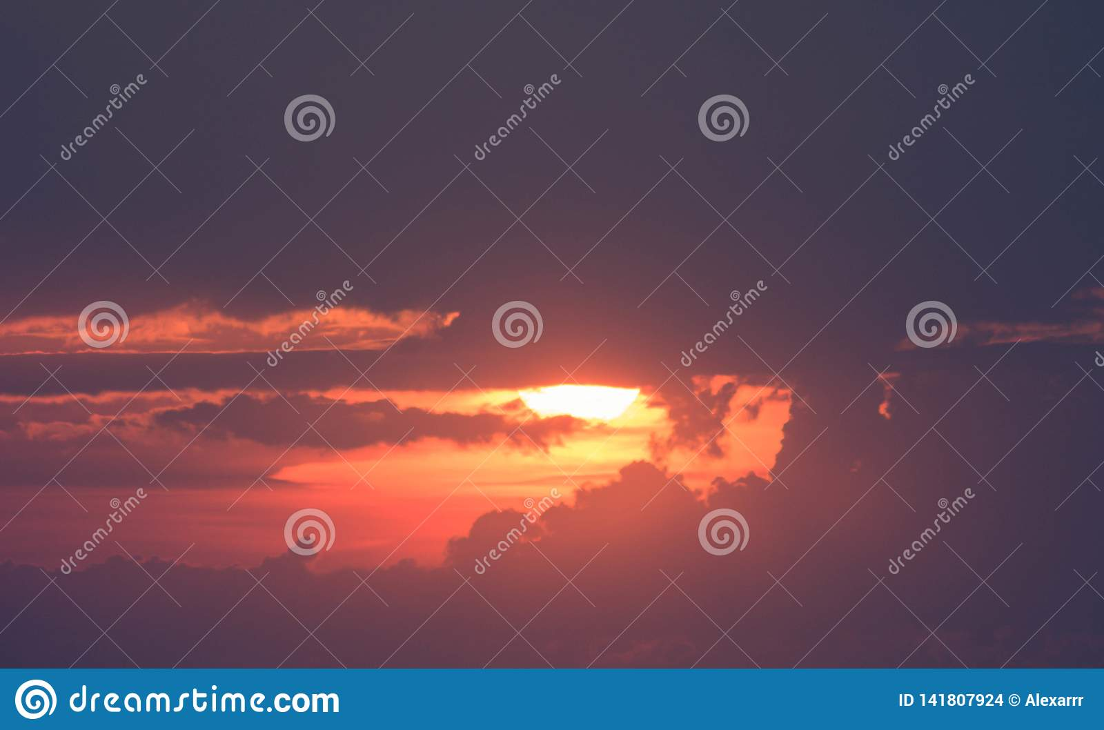 Beautiful sunset in the sky