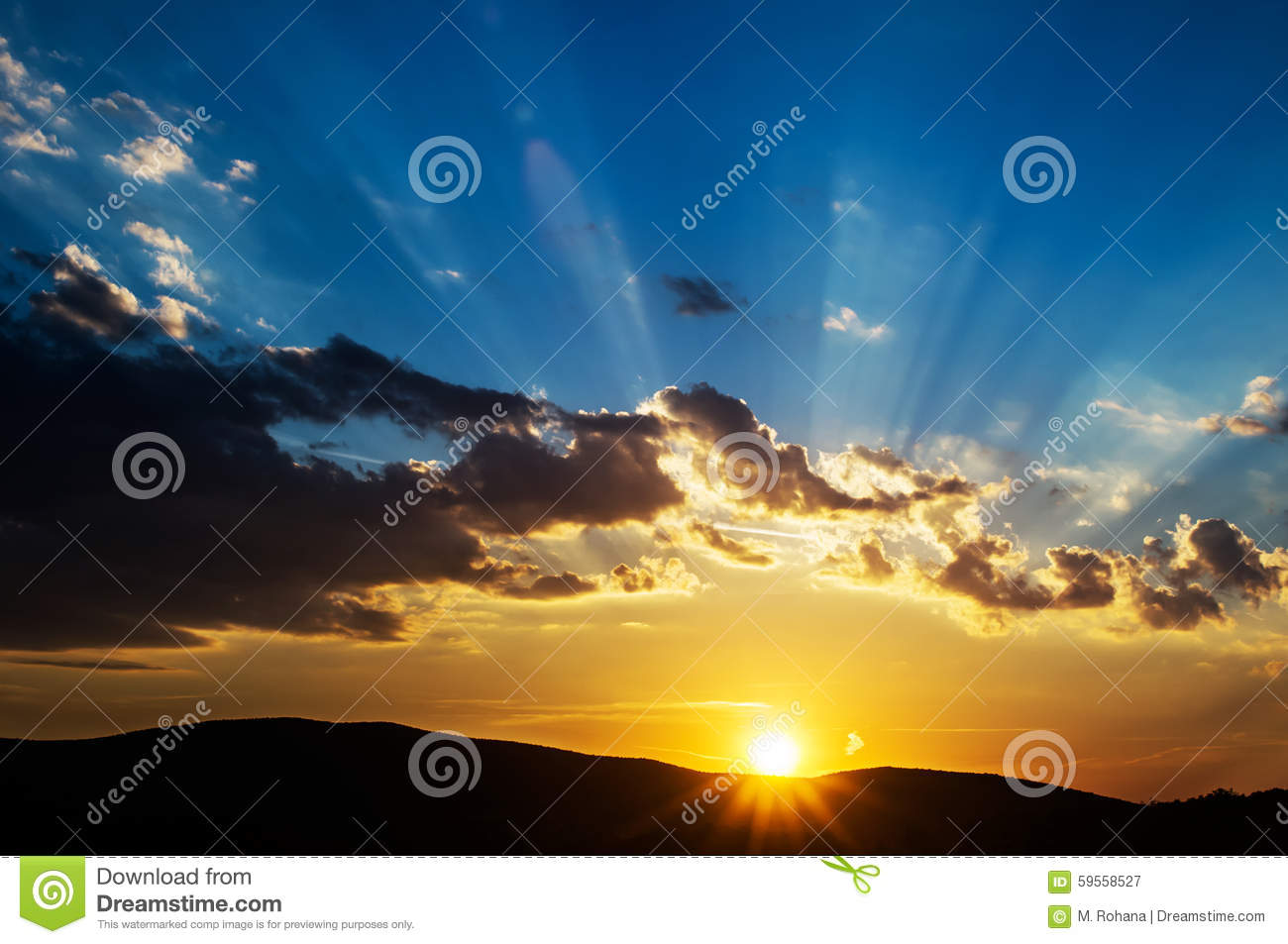 Download Beautiful sunset stock image. Image of nature, colors - 59558527
