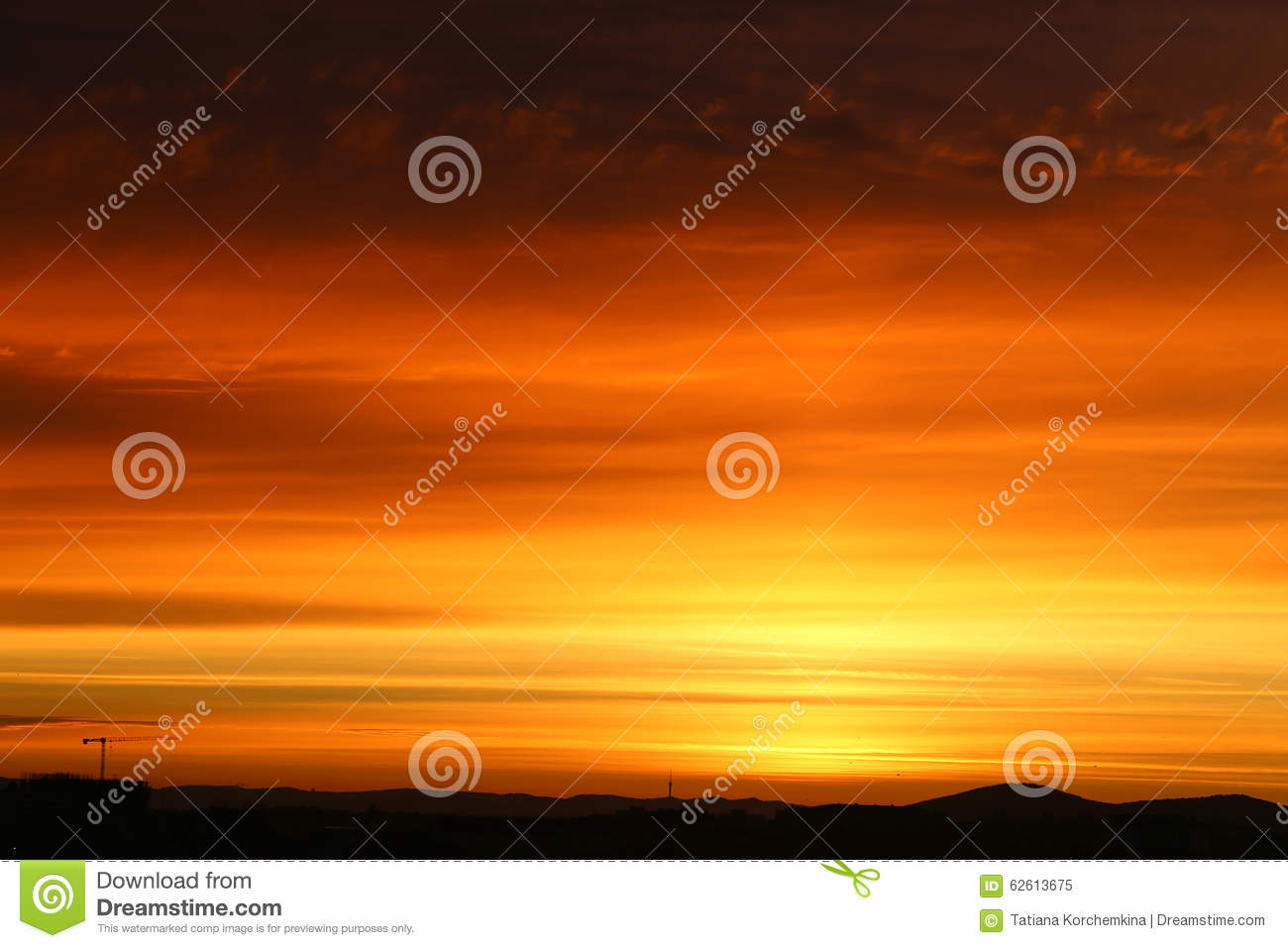 Beautiful sunsets in the sky