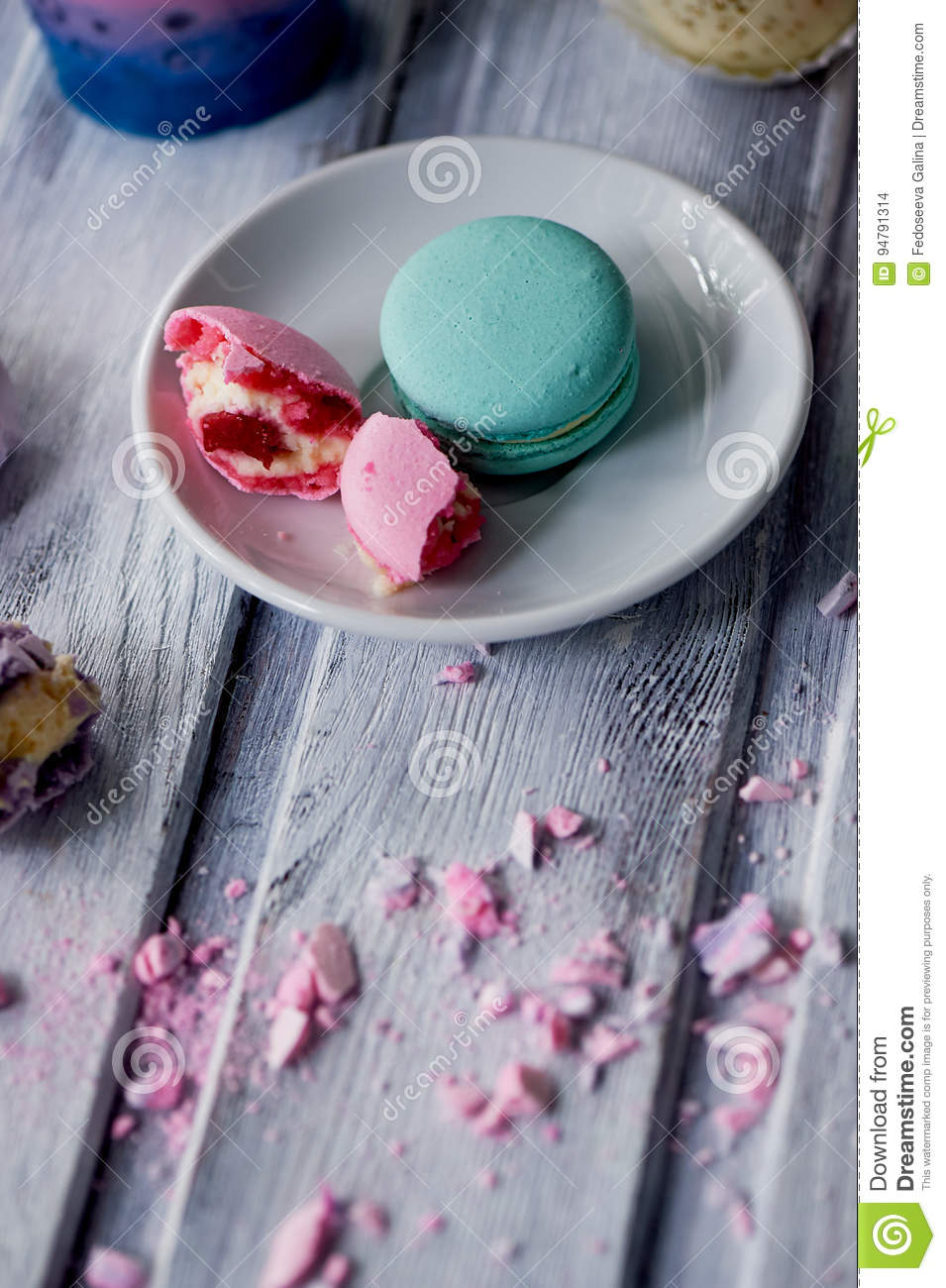 Beautiful Sweets Pastel Shades On A Beautiful Wooden