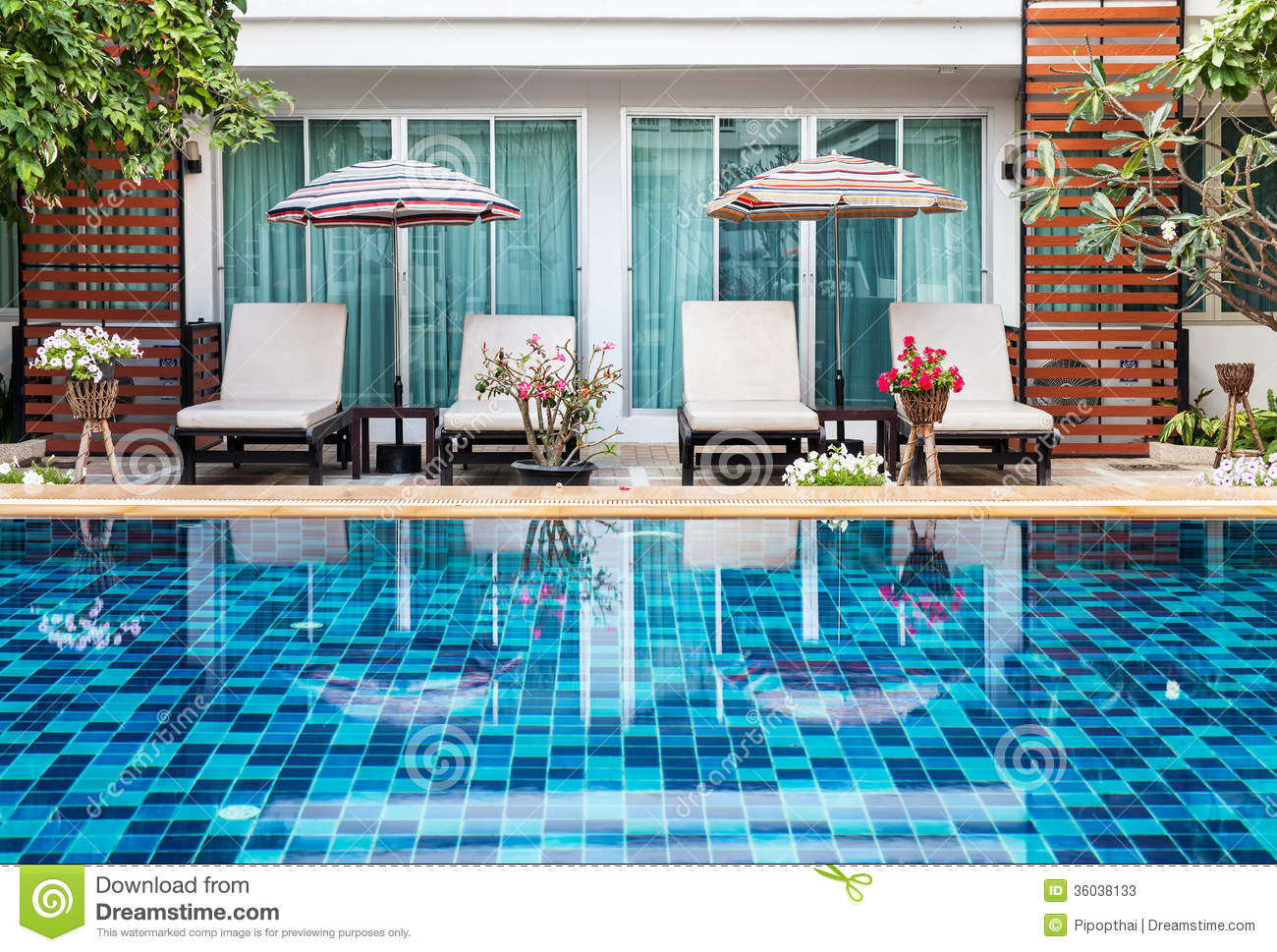 Beautiful swimming pool with chairs stock photos image Swimming pool beautiful