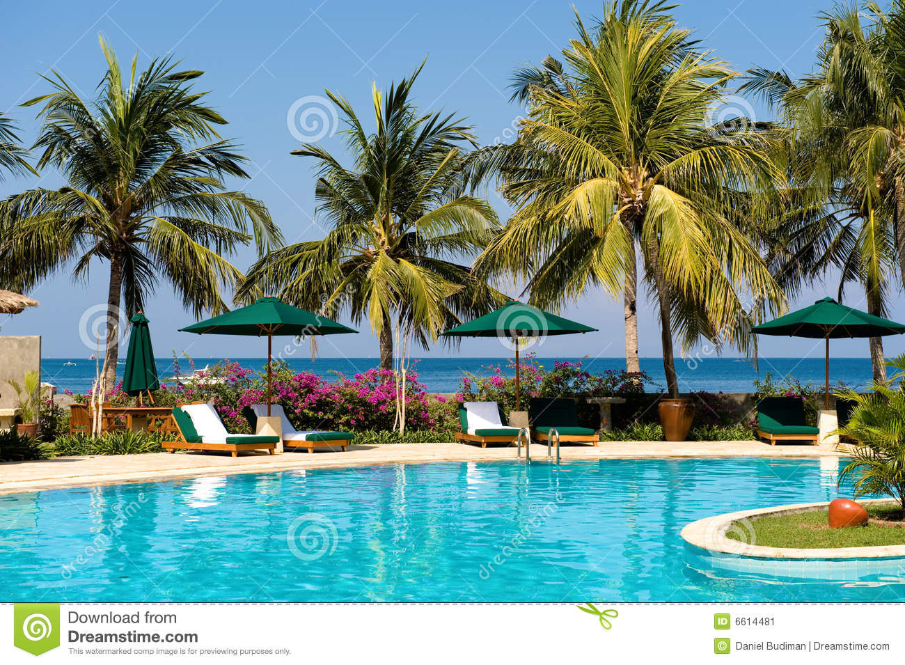Beautiful Swimming Pool Near The Beach Stock Image Image 6614481