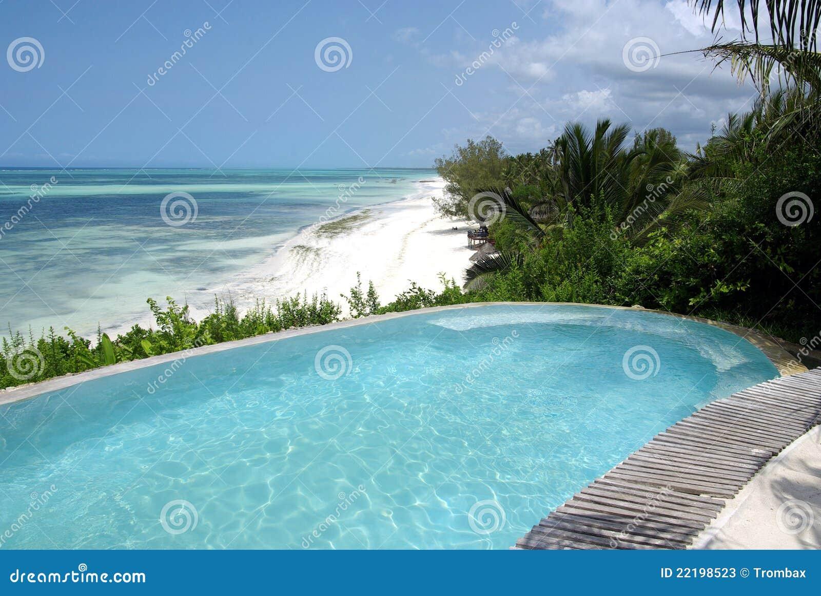 Beautiful Swimming Pool In Resort Stock Photos Image