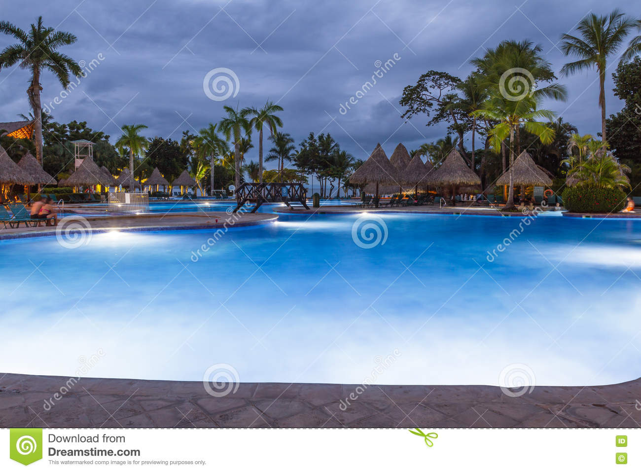 Beautiful swimming pool at twilight editorial photo 79258311 - Glamorous swimming pool with affordable budget ...