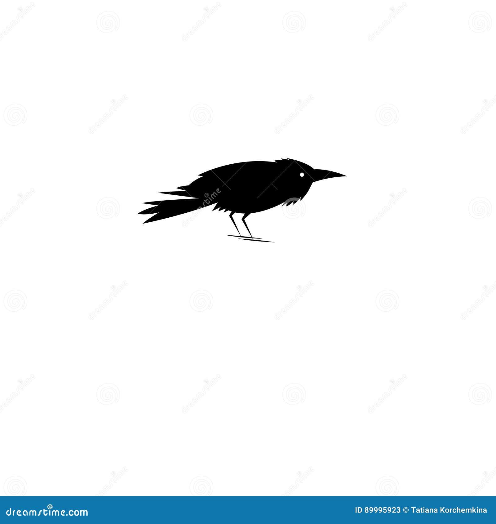 Beautiful Symbol Of The Black Raven Stock Vector Illustration Of