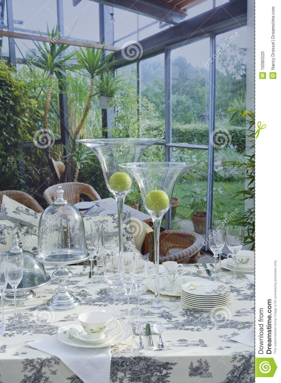 Beautiful Table Setting Stock Photo Image 16080520